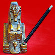 Egyptian Ancient Giza Sphinx Statue with Striped pens