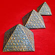Egyptian Ancient Giza Pyramids with Pharaohs Lette