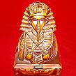 Egypt Pharaoh Akhenaton Akhenaten Bust Horus Statue Sculpture