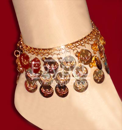 Belly Dance Coin Anklet Gold