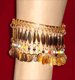Golden Upper Arm and Ankle Bracelet