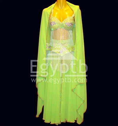 Lime Green Belly Dancing