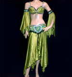 Beautiful Green Belly Dancing