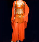 Vibrant Orange Belly Dancing