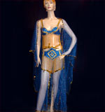 Blue Gold Belly Dancing
