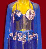 Shimmering Blue Belly Dancing