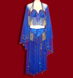 Shimmering Blue Belly Dance