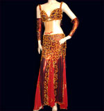 Dark red Belly Dancing