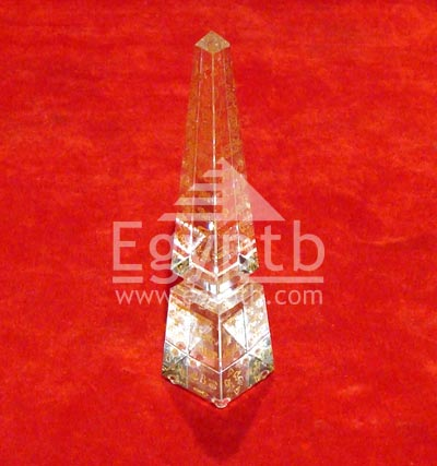 Egyptian Obelisk Crystal 3D Laser With Hieroglyphic Letters
