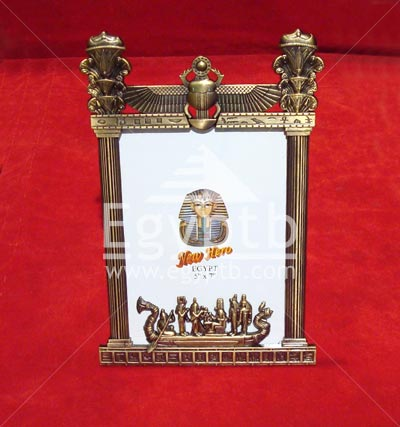 Ancient Egyptian Style Metal Gold Party On The Boat Photo Frame
