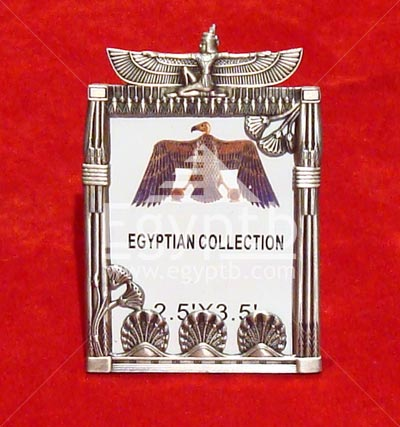 Egyptian Temple Metal Winged Maat Photo Frame