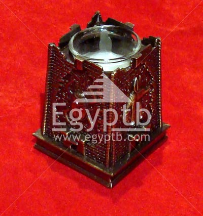 Egyptian Scarb, Cat Candle Votive Holder