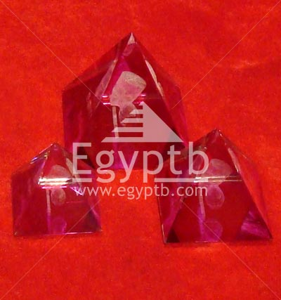 Egyptian Pyramids Glass Crystal king Nefertiti Mask