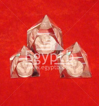 Egyptian Pyramids Glass Crystal king tut mask