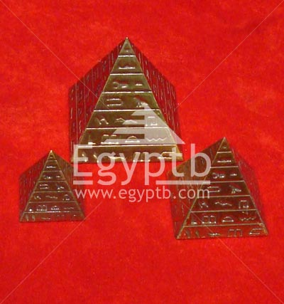 Set of 3 Brass Pyramids