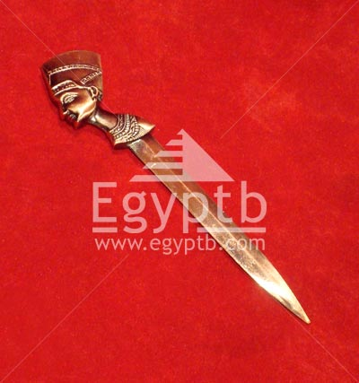 Egyptian Ancient Goddess cleopatra Antique Silver Metal Pen