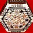 Egyptian Mother of Pearl Mosaic Wood Jewelry Box