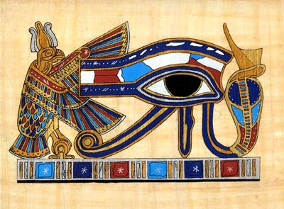 The Sacred Cobra eye of Horus, symbol of protection