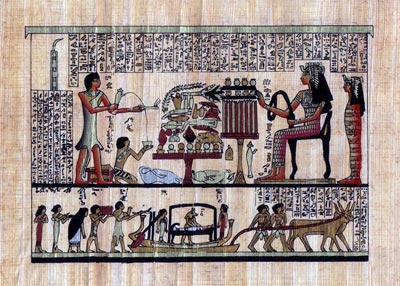 Tomb Of Queen Nefertari Egyptian Papyrus