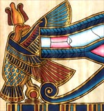 The sacred eye of Horus, symbol of protection