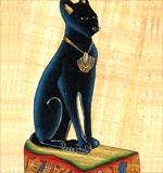 Goddess Bastet papyrus