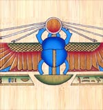 Winged Scarab Papyrus