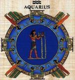 Aquarius Zodiac Papyrus