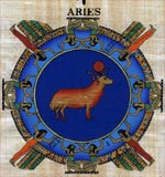Aries Zodiac Papyrus