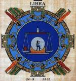 Libra Zodiac Papyrus