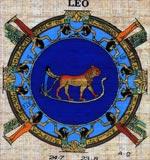 Leo Zodiac Papyrus