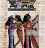 The Three Musicians Egyptian Papyrus