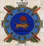 Taurus Zodiac Papyrus