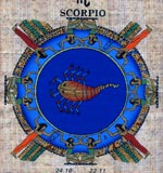 Scorpio Zodiac Papyrus