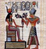 Ramses Offers Flowers