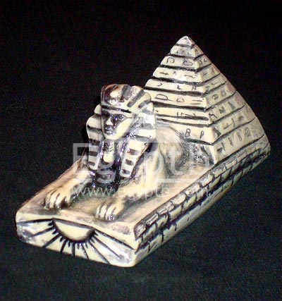 Egyptian Ancient Giza Sphinx with Pyramid