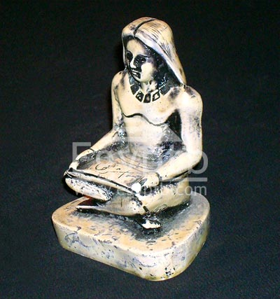 The Seated Egyptian Scribe Statue