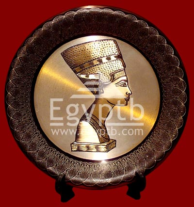 Queen Nefertiti Head Brass Plates
