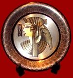 Queen Cleopatra Brass Plate