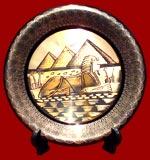 Pyramid Sphinx Brass Plate