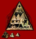 Set of 3 Brass Pyramids